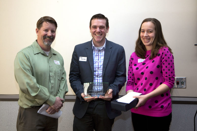 Matt Davenport receives the 2015 DCSWA Newsbrief Award. Photo by Rich Press.